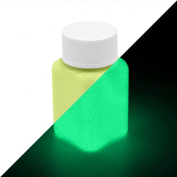 Glitter Luminous Paint Yellow-Yellowgreen 100 g - glow in the dark paint with glitter