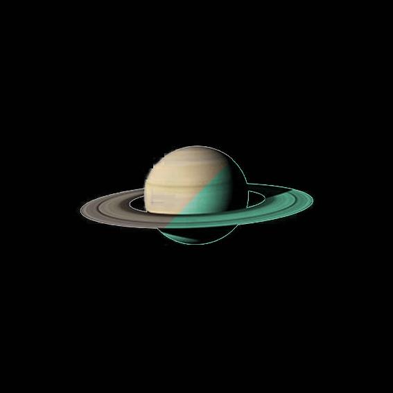 Nachleuchtender Aufkleber Saturn (30 cm)