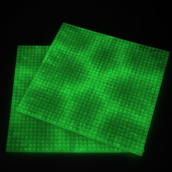 Photoluminescent base plates 2x green