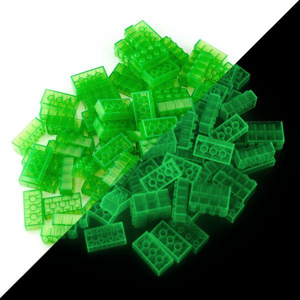 Toy bricks - Green (100 pieces, type 4x2)