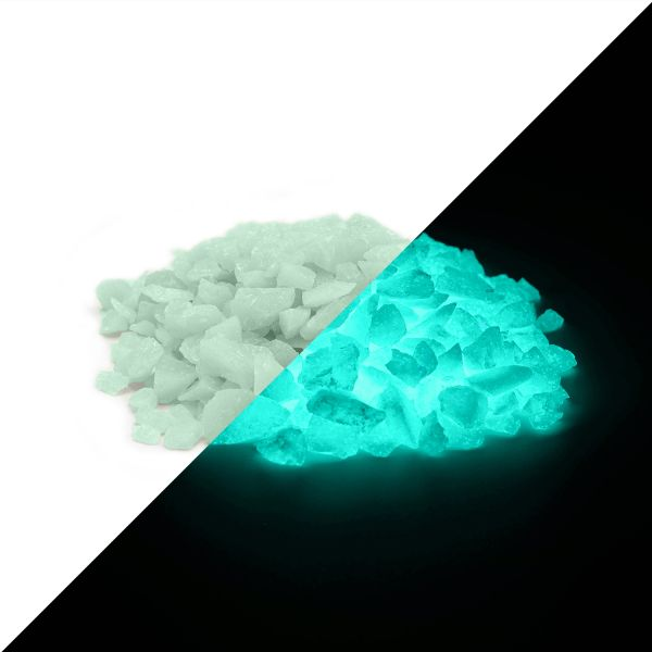 Afterglow Granules GreenBlue 4mm - 100g Glow Stones