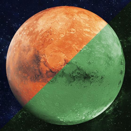 Nachleuchtender Aufkleber Mars (30 cm)