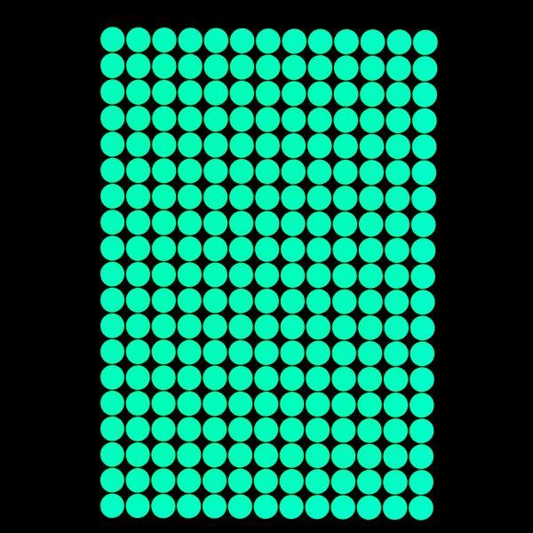 """Premium Leuchtaufkleber - Motiv """"Punkte"""" (216 Stück x 1,5 cm)"""