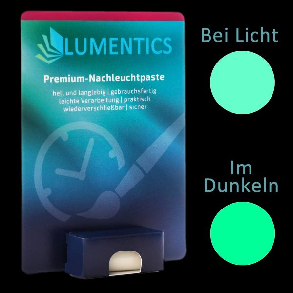 Watch hand color green-green - Fine luminous paste