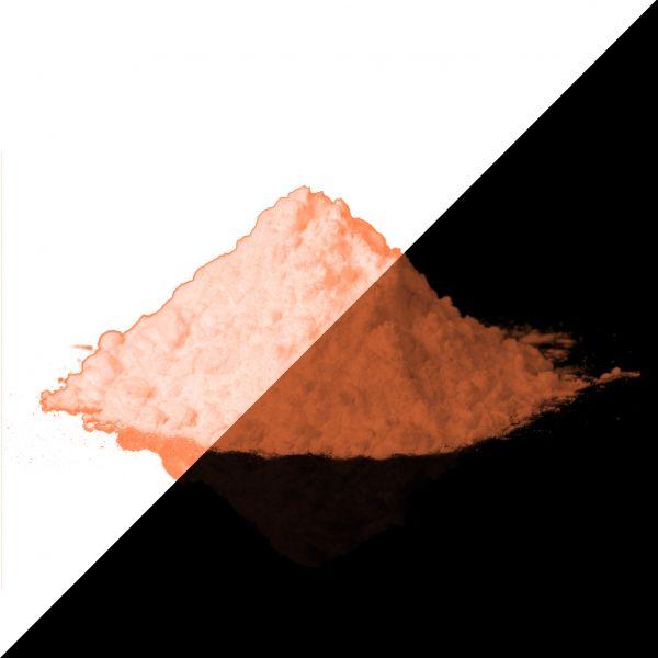 Fluorescent powder orange 40g - Phosphorescent pigments (type: sulfite)