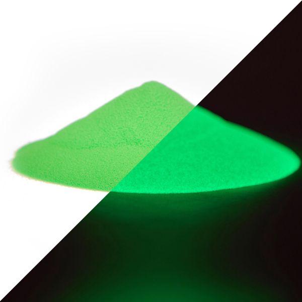 Luminescent powder green-green 40g - Glow in the dark color powder