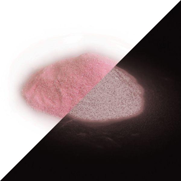 Glitter powder pink-pink 50g - Phosphorescent glitter/flitter
