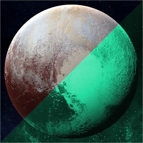 Nachleuchtender Aufkleber Pluto (30 cm)