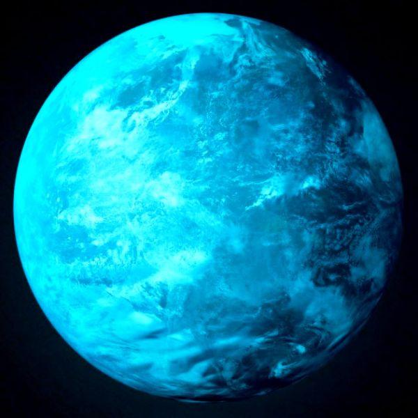 Nachleuchtender Aufkleber Blauer Planet (30 cm)
