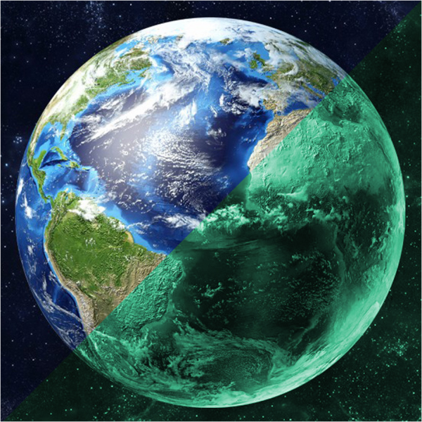 Photoluminescent sticker Earth (30 cm)