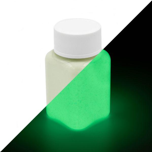 Glitter Luminous Paint Green-Yellow 100 g - glow in the dark paint with glitter